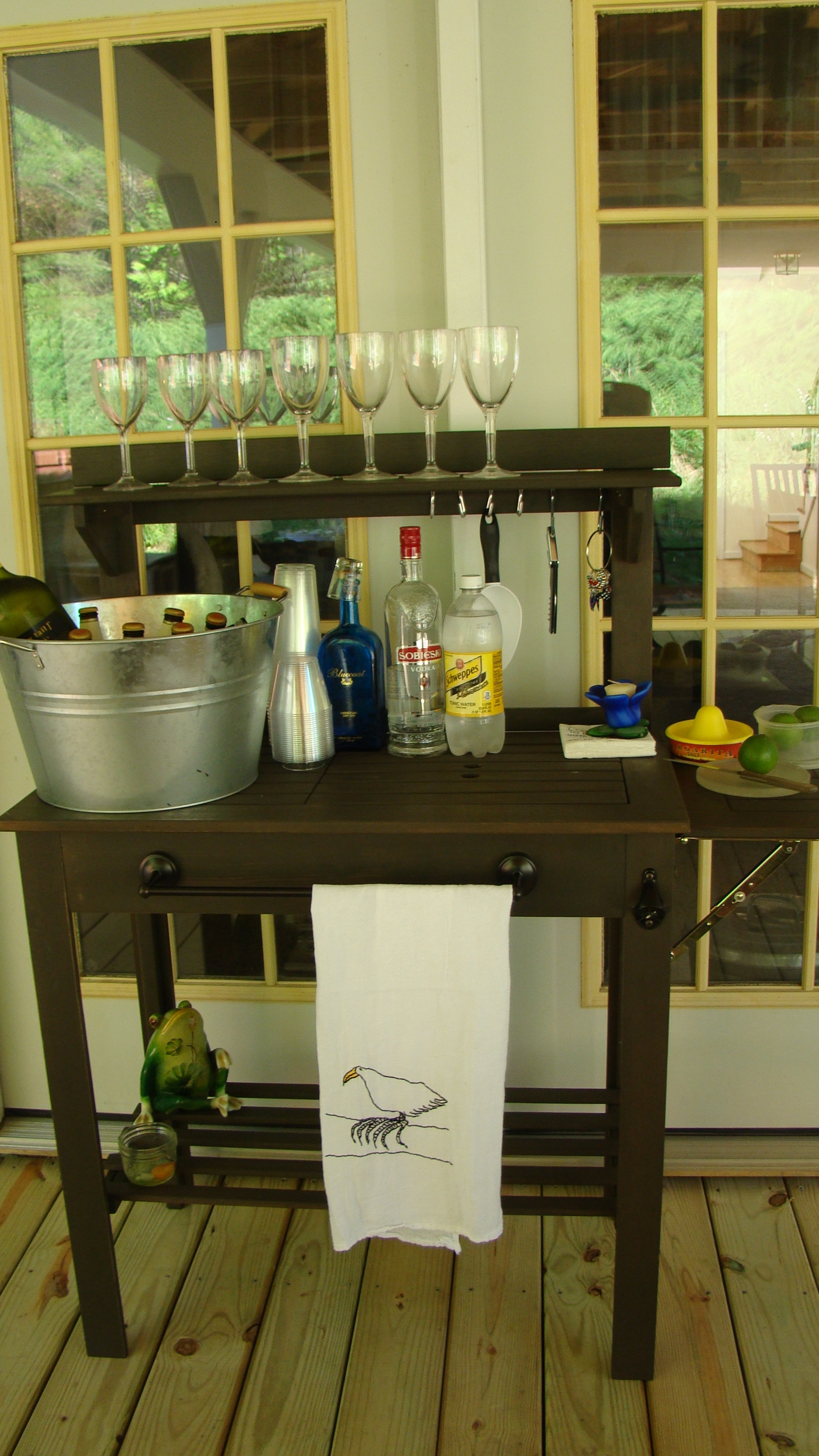 Potting Bench To Party Bar Missing Willow Farm